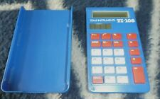 Texas Instruments Solar TI-108 Basic Calculator With Cover Blue - Tested & Works