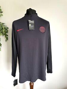 Nike PSG Paris Saint Germain Strike 1/4 Zip Football Drill Top T Shirt Size XL