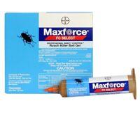 TWO Maxforce Select Roach Killer Bait Gel Tubes Kill Cockroach w/Plunger & Tip