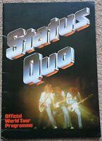 Status Quo 1979 World Tour programme