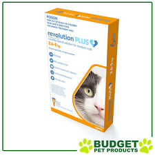 Revolution Plus For Medium Cats 2.6-5kg 6 Pack