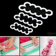 3 x Cake Rose Mold Flower Cutter Fondant Icing Tool Sugarcraft Decorating Mould
