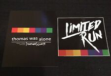 Thomas Was Alone Limited Run Games Post Card + Sticker - Rare