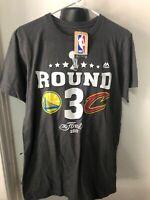 Majestic Men's Medium Nba Finals Shirt Gray Warriors Cavaliers New Basketball