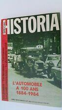 Magazine Historia Spécial  ( Edit-AVRIL 1988 ) L'Automobile de 1884-1984