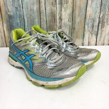 Asics GT 2000 Womens 9 Blue Gray Green Lace Up Athletic Fluid Ride Running Shoes