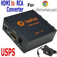 HDMI to 3 RCA /AV Converter for Google Chromecast 1 2 3 & Ultra Media Player
