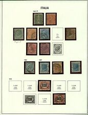Italy 1863/78 range of issues to include '63 numerals and portraits with  Stamps