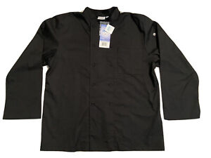 NWT Chef Works  XL Black Chef Coat Mens Long Sleeve Cool Vent Double Breasted