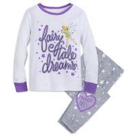 Disney Store Tinker Bell Fairy Pixie 2pc Pajama Set Girls Size 2 3 4 5 6 8 10