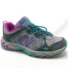 New Balance Trail All Terrain Woman's 9.5 M Gray Pink Hiking Athletic Sneakers