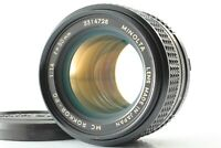 """ Excellent+++++ "" Minolta MC ROKKOR PG 50mm f/1.4 MF Standard Lens from Japan"