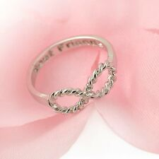 SILVER INFINITY BEST FRIENDS RING SIZE 6 (M) FRIENDSHIP WOMAN  GIFT UK SELLER