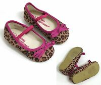 BABY GIRLS SASSY LEOPARD PRINT PARTY PUMPS PRAM SHOES UK SIZE 4 / 12-15 MONTHS