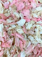 Ivory Pink Biodegradable Natural Wedding Confetti Real Dried Feather Petals 1L
