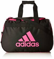 NEW adidas Diablo Duffel Bag,18.5 x 11 x 10-Inch, Imported, Black/Shock Pink