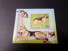 GUINEE 1985, BLOC timbre aérien 185, CHIEN BERGER, neuf**, MNH, DOG