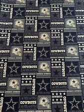 Dallas Cowboys Cotton Fabric 1/2 Yard (18 By 60)New