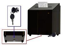 Locking Ballot / Suggestion Box / Donation Box with Lock - Smoked Acrylic