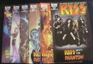 KISS 5 6 7 8 IDW VARIANT COMIC LOT MEETS THE PHANTOM GIRLS INTO THE VOID 2012 NM