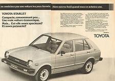 Publicité Advertising 1980  ( Double page )  TOYOTA STARLET