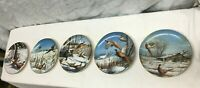 David Maas Pheasant Winter Series wild wings Collectors Plate Collection 5pc lot
