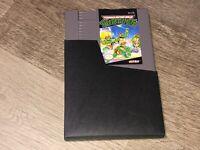 Teenage Mutant Ninja Turtles 1 TMNT w/Sleeve Nintendo Nes Authentic Mint Cond