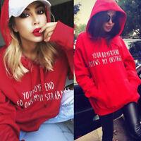 Women Hoodie Sweatshirt Jumper Hooded Pullover Tops Blouse Long Sleeve Coat