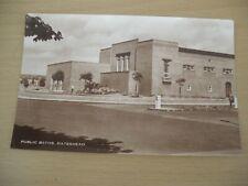Vintage real photo postcard Public Baths Gateshead Tyne & Wear unused