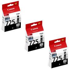 Canon PGI-725 Ink Tanks (for iX6560/MG8270/MG8170/MG6270/MX897/MX886) (3pcs)-BLK