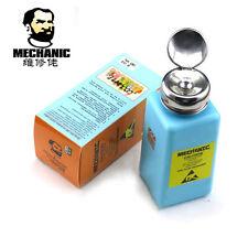 MCN Empty PCB BGA ESD Fluid Dispenser 180ML Solvent Plastic Press Alcohol Bottle