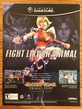 Bloody Roar: Primal Fury Nintendo Gamecube 2002 Vintage Poster Ad Print Art RARE