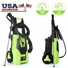 3000 Psi 1.8Gpm Electric Pressure Washer High Powerful Water Cleaner Machine Kit