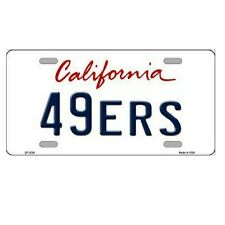 "S.F. 49ers California State Background Novelty Metal License Plate 6"" x 12"""
