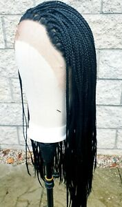 Black Lace front small box braided wig handmade
