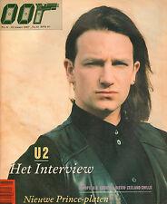 MAGAZINE OOR 1987 nr. 06 - U2 (COVER) / EUROPE / CHILLS / STEVE EARLE / PRINCE