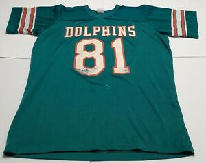 Vintage 80s Rawlings Miami Dolphins #81 Jersey Size XL
