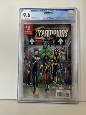 Champions #1 (2016) Marvel CGC 9.6 NM+ White Pages! NEW CASE!