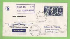 France 1967 Air France First Flight Paris-Varsovie-Moscou cover