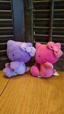 Lot of 2 Hello Kitty Jakks 35th Anniversary Colors Plush