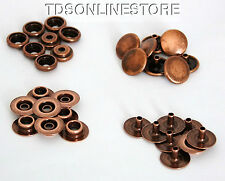 1/2 Inch Diameter Antique Copper Plated Snaps Package of 8 Sets