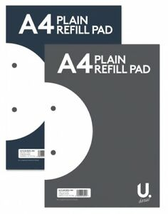 A4 A5 Refill Note Pad Ruler Lined Square Graph Maths Exercise Paper Notebook NEW