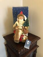 Vintage Santa Claus Figure Clothtique Possible Dreams Christmas Caller Decor