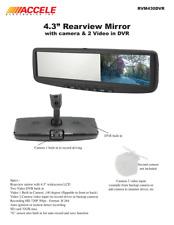 Accele RVM430DVR Rearview Mirror Monitor Camera /w Built-in DVR