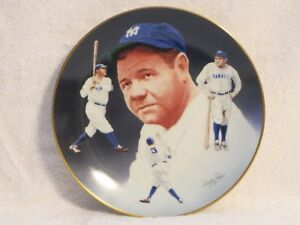 """Hackett American Collector Plate """"Babe Ruth"""" 1984"""