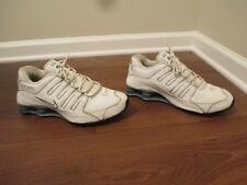 Classic 2003 Used Worn Size 11.5 Nike Shox NZ Shoes White Blue Silver