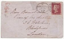 * 1860 WORCESTER SPOON 1st RE-CUT 1d STAR COVER & RARE SMALL UDC MALVERN LINK