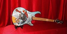 STAN LEE SIGNED SPIDER-MAN SDCC PEAVEY ROCKMASTER GUITAR HUMBERTO RAMOS +PRINT