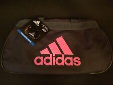 Adidas Diablo Gray Pink Workout Small Duffel Gym Bag