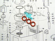 3 Solenoid Valve Gaggia Classic, Baby, Evolution Gaskets, O Rings, WGADM0041/022